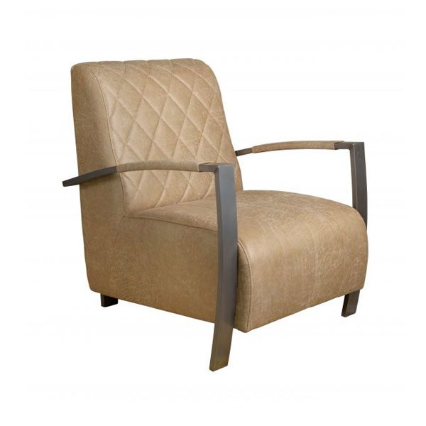 Fauteuil Rvs Leer.Cadillac N Fauteuil
