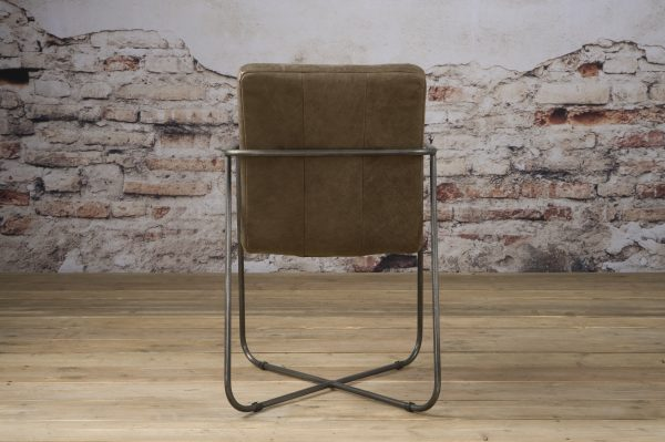 LM 0030 - Rodeo armchair - leather taupe (A)