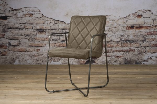 LM 0030 - Rodeo armchair - leather taupe (V)