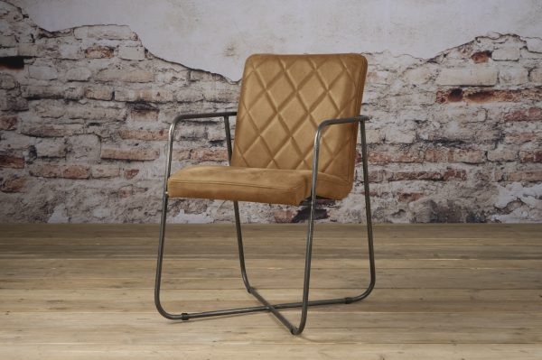 LM 0032 - Rodeo armchair - leather rust (V)