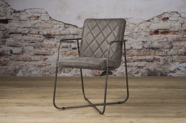 LM 0033 - Rodeo armchair - leather stone (V)