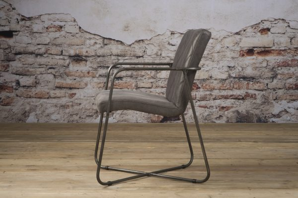 LM 0033 - Rodeo armchair - leather stone (Z)