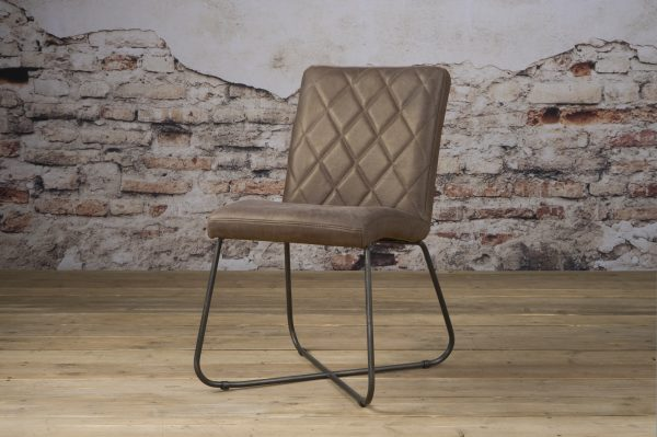 LM 0034 - Rodeo sidechair - leather taupe (V)