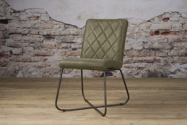 LM 0035 - Rodeo sidechair - leather olive (V)