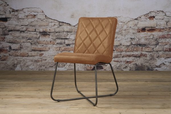 LM 0036 - Rodeo sidechair - leather rust (V)