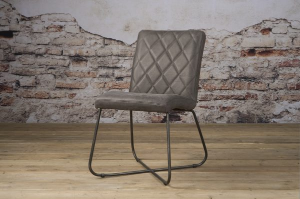 LM 0037 - Rodeo sidechair - leather stone (V)
